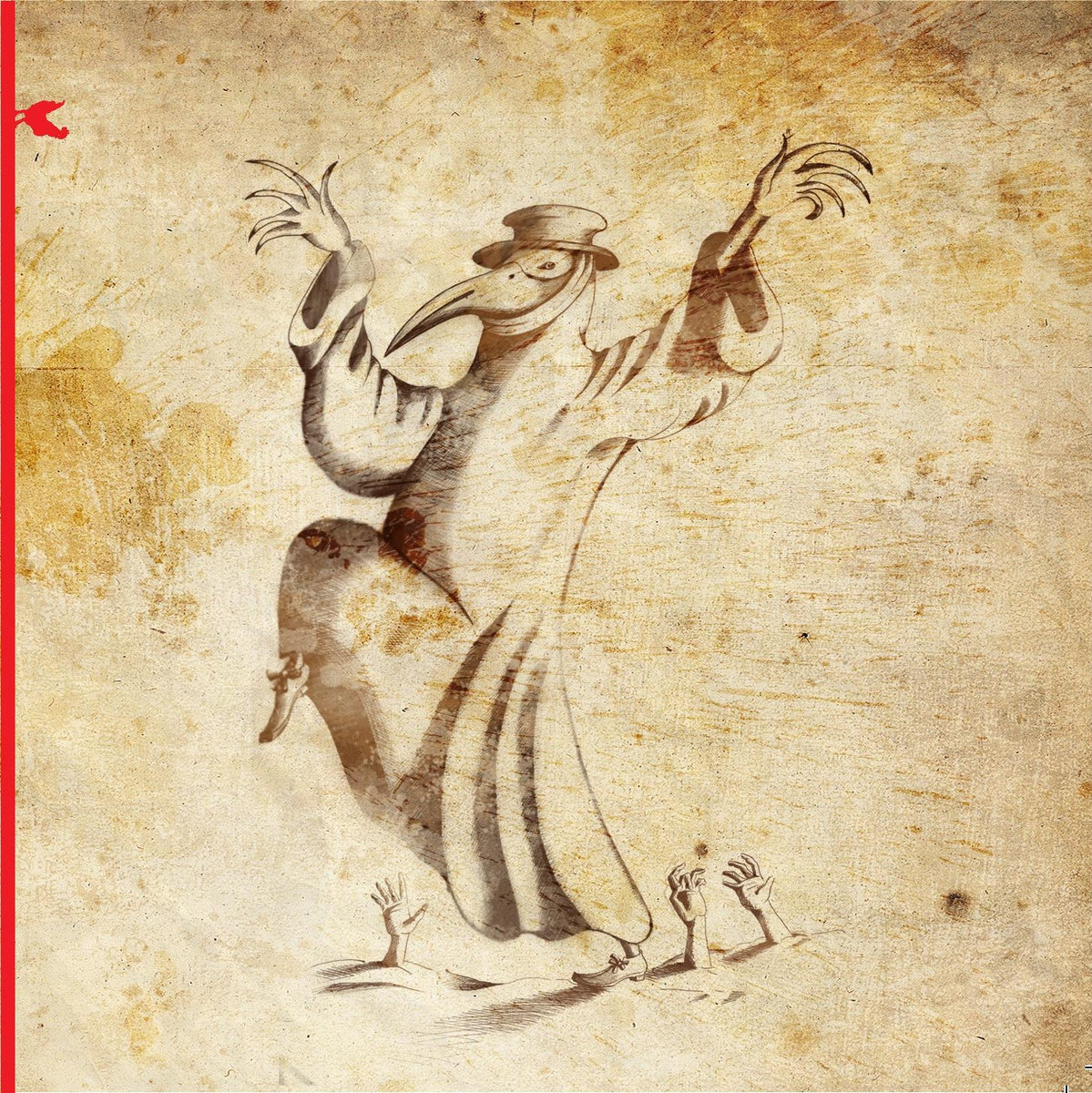"Cover of ""Six Dances Under"", El Gallo Rojo Records, 2010"
